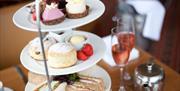 Afternoon tea at The Grand Hotel, Torquay,Devon