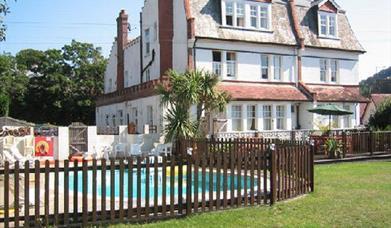 Yardley Manor Hotel outside pool, Torquay, Devon
