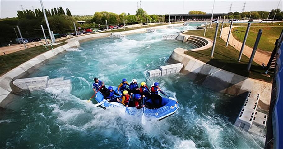 Rafting at the Lee Valley White Water Centre