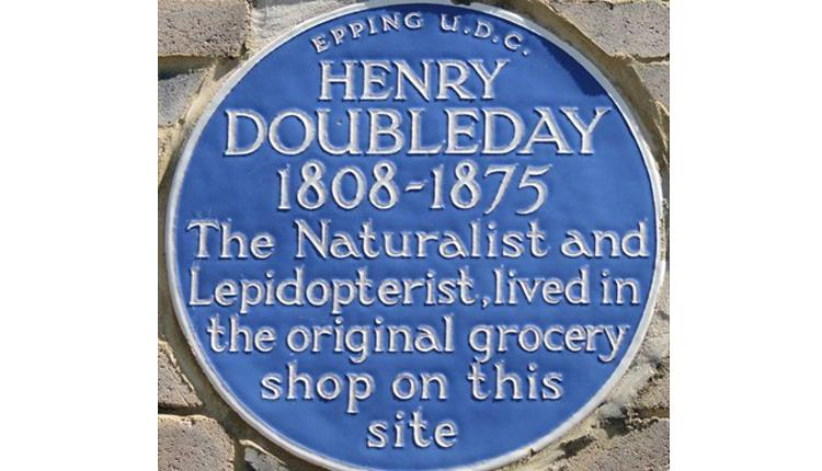 Henry Doubleday blue plaque in Buttercross Lane, Epping.