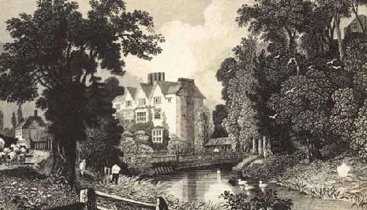 Ongar Castle mound and house1830.