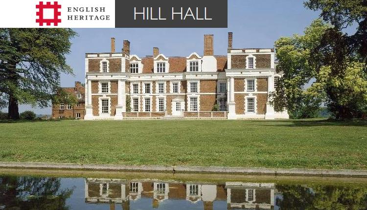 Hill Hall, owned by English Heritage and open to the public for a pre-booked tour May 1st 2019.