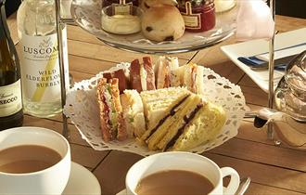 Afternoon Tea at Mayfield Farm Bakery Tea Shop.