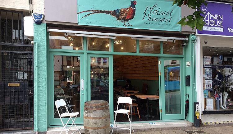 The Pleasant Pheasant cafe - restaurant, wine and cocktail bar in Epping High Street.