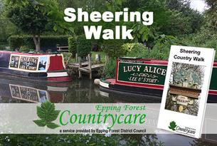 The Sheering walk takes you past the Maltings Antique Centre and along a canal.
