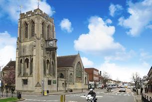 St John's Church and High Street, Epping