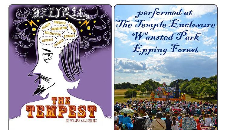 Illyria present Shakespeare's The Tempest at The Temple, Wanstead Park, Epping Forest