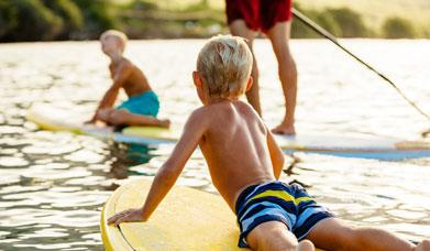 Family Adventures Paddleboarding
