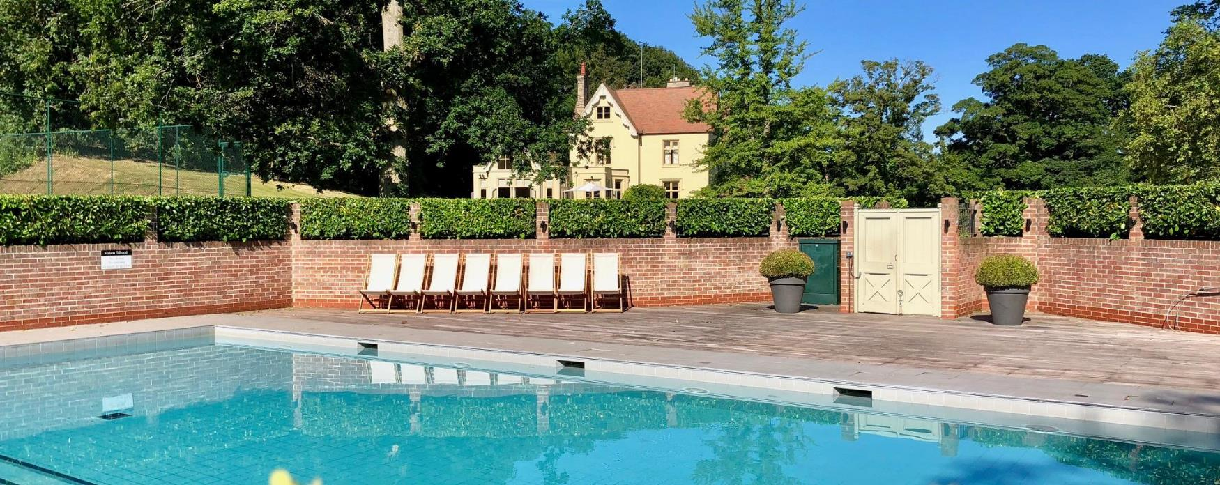 The swimming pool at Maison Talbooth Hotel