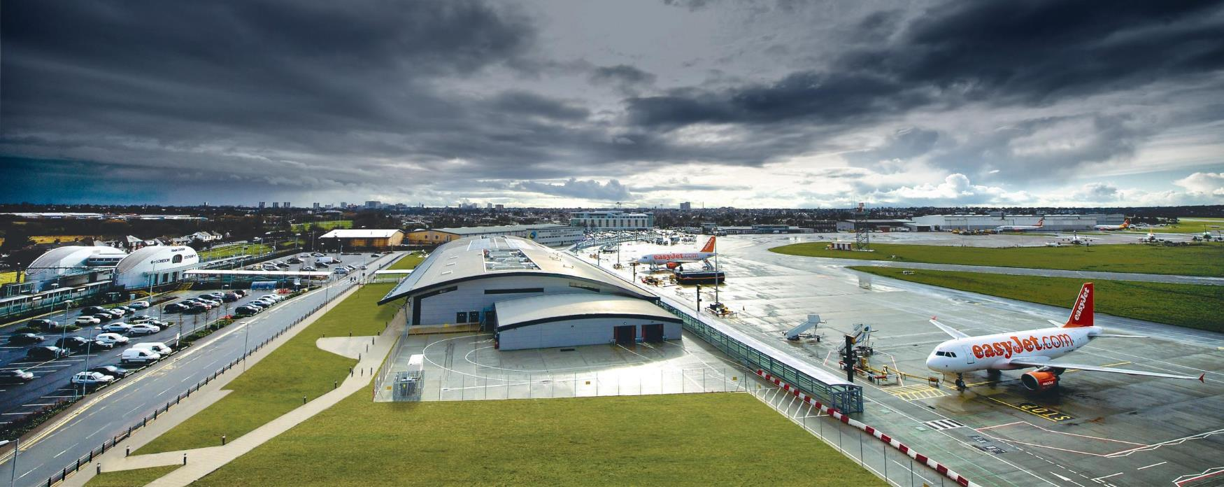 The terminal building at Southend Airport