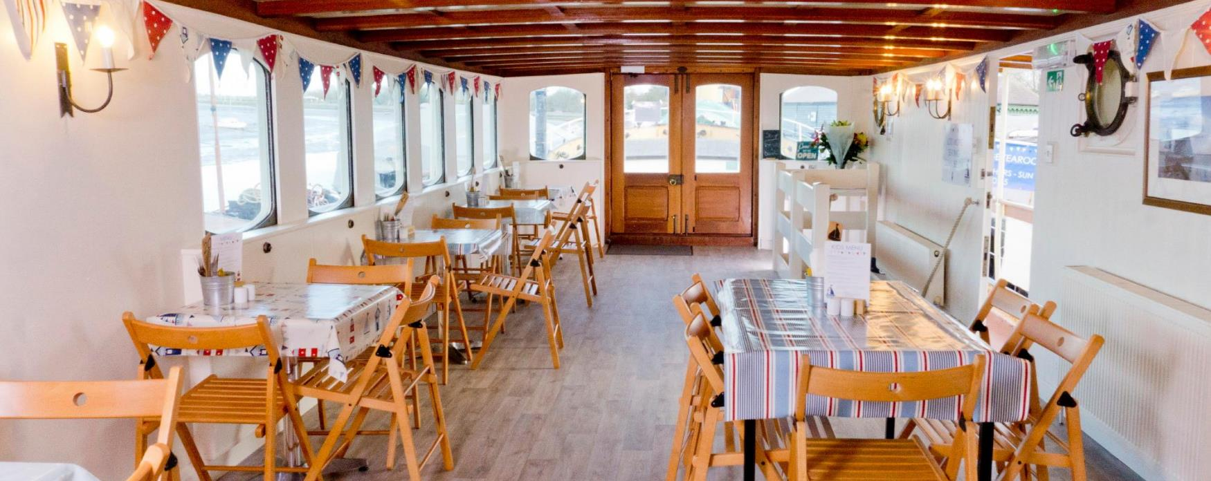 The interior of The Barge Tea Rooms