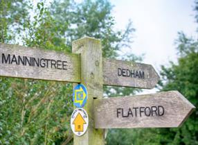Walking in Essex, sign showing directions