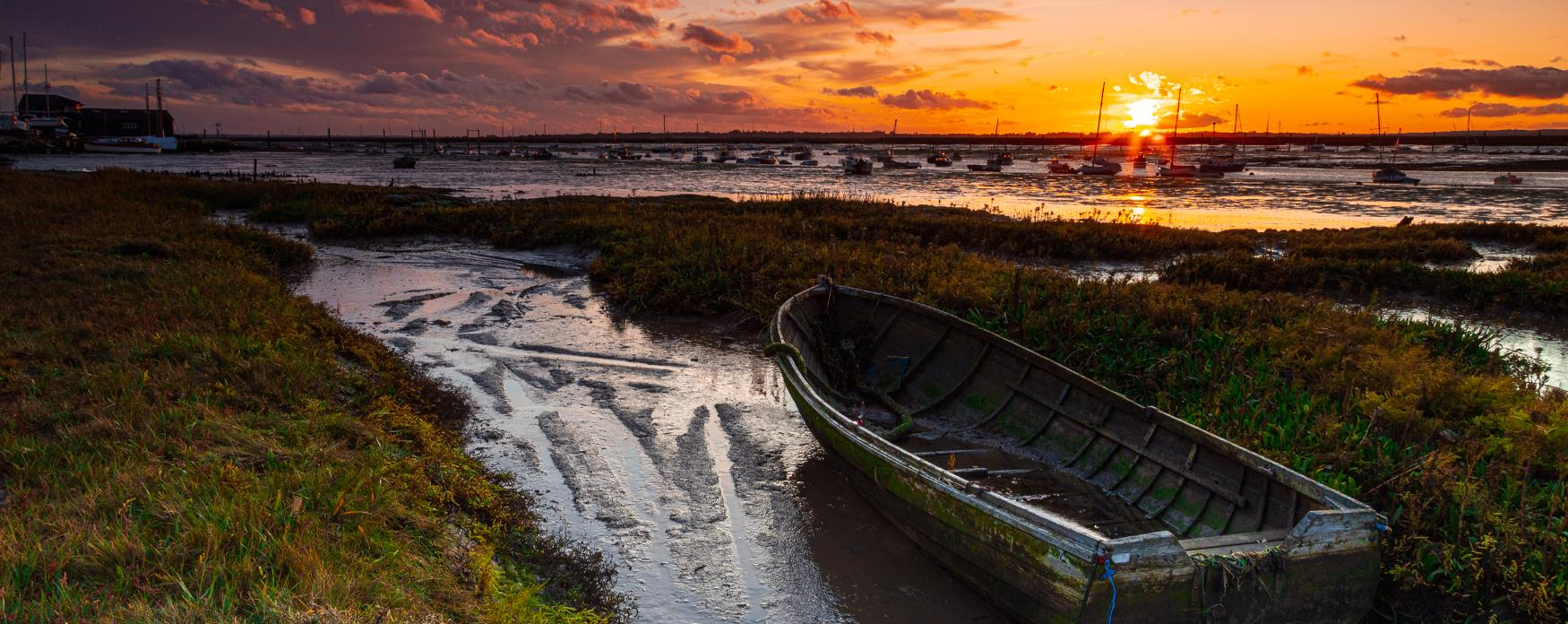 The sunsetting in West Mersea