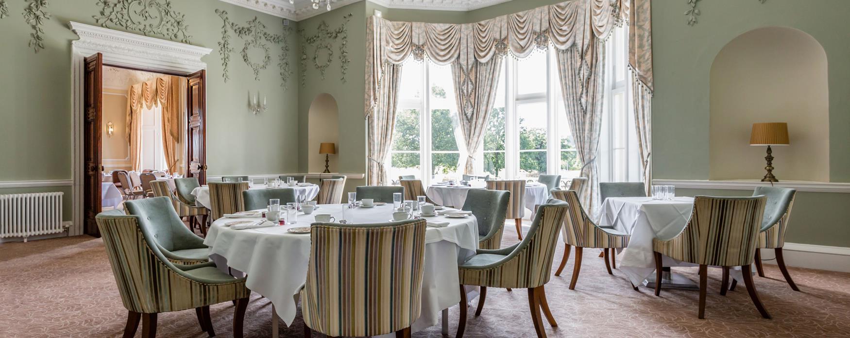 Wivenhoe House restaurant interior