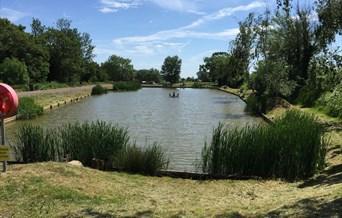 Fishing Lake at Waldegraves Holiday Park, Mersea Island Essex