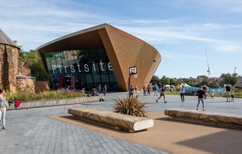 The Firstsite building - shown from the outside
