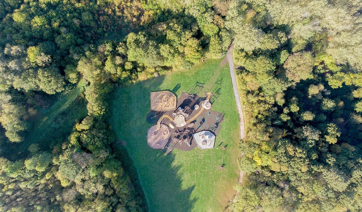 Belhus Woods aerial view