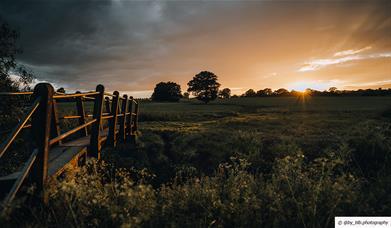 Billericay fields at sunset