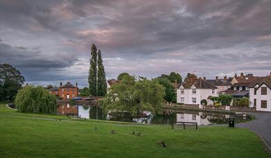 Picture of the Doctors Pond with houses in the background