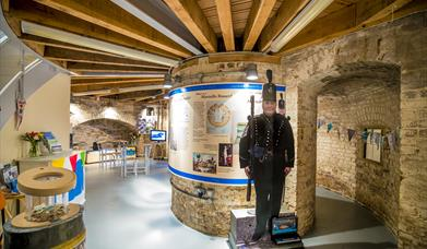 View of permanent historical exhibition at Jaywick Martello Tower