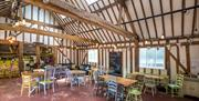 Inside the cafe at Weald Country Park