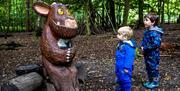 Two boys meet the Gruffalo's Child