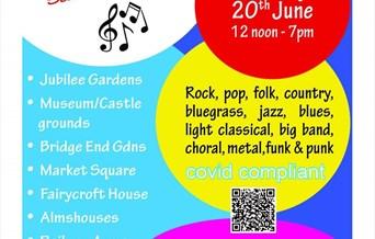Fete de la Musique 2021 - Free outdoor music in Saffron Walden town centre.  Sunday 20th June 12pm-7pm.  Fully covid compliant.
