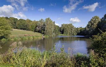 High Woods Country Park view of lake.
