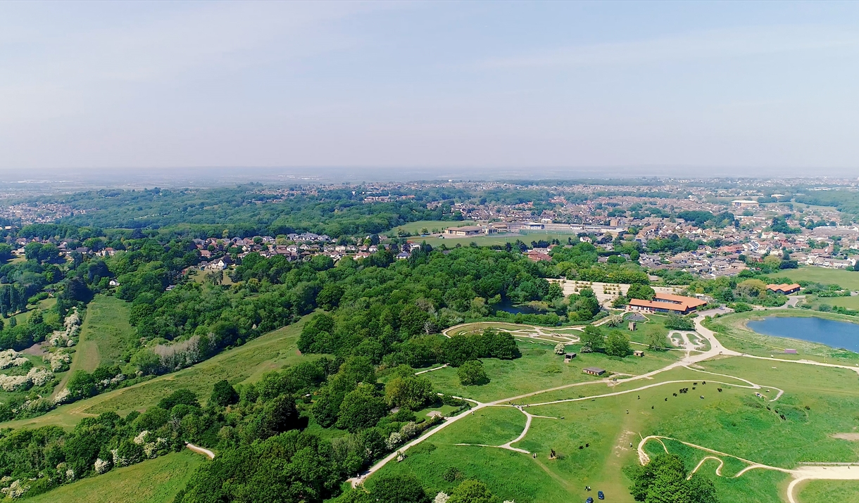 Hadleigh Country Park from the air