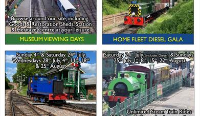 East Anglian Railway Museum Summer Holiday Events