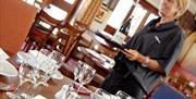 Waitress at The Granary Restaurant, Mersea Island, Waldegraves Holiday Park