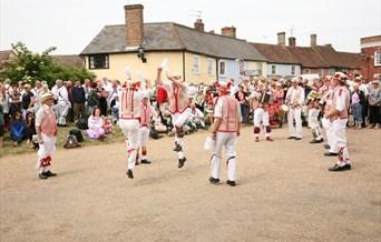 Picture of Morris men dancing