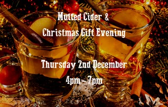 Mulled Cider & Christmas Gift Evening in the Orchard