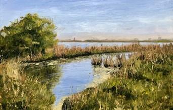 Norfolk Riverbank by Eleanor Allison