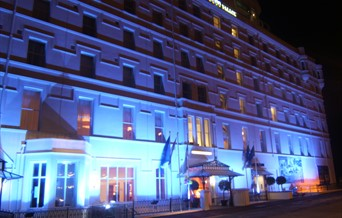 Palace Hotel Exterior Night Front of Hotel
