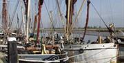 Sailing barge Reminder on Maldon Quay