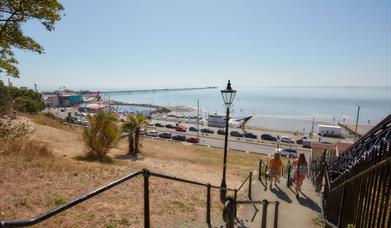 View across Three shells beach and lagoon