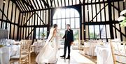 The Rose Barn Wedding Breakfast Bride and Groom