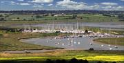 View of Titchmarsh Marina in Walton Backwaters from the Tower
