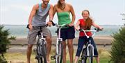 Bike Ride at Waldegraves Holiday Park, Mersea Island, Essex