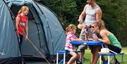 Camping with Family at at Waldegraves Holiday Park, Mersea Island, Essex