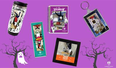 Halloween Competition at Upside Down House Lakeside with personalised products from My Moments