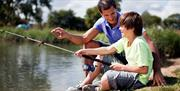 Family Fishing at Waldegraves Holiday Park, Mersea Island Essex