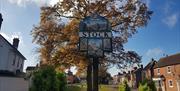 Stock village sign