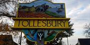 Tollesbury village sign
