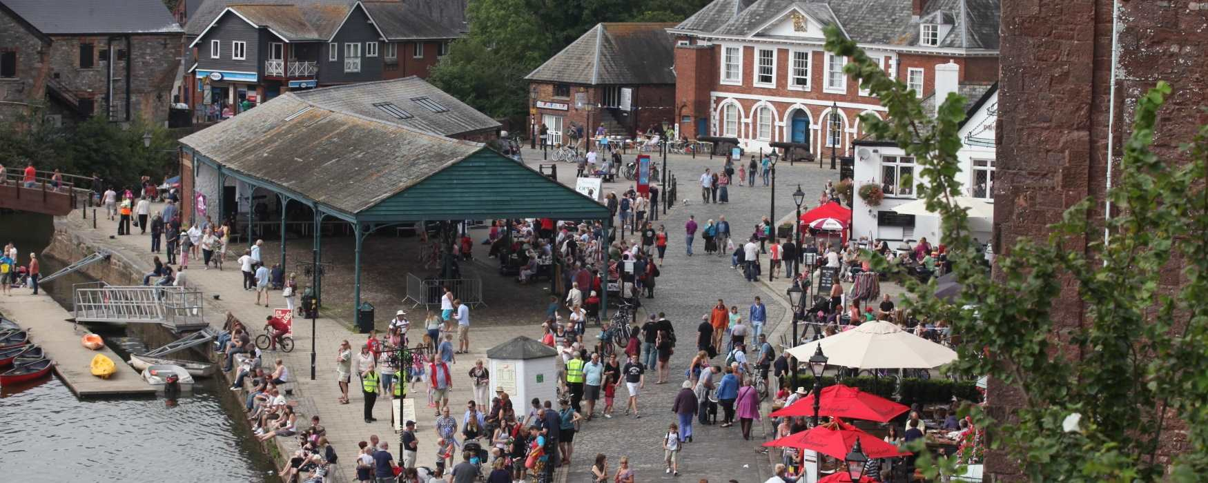 Events on Exeter Quayside