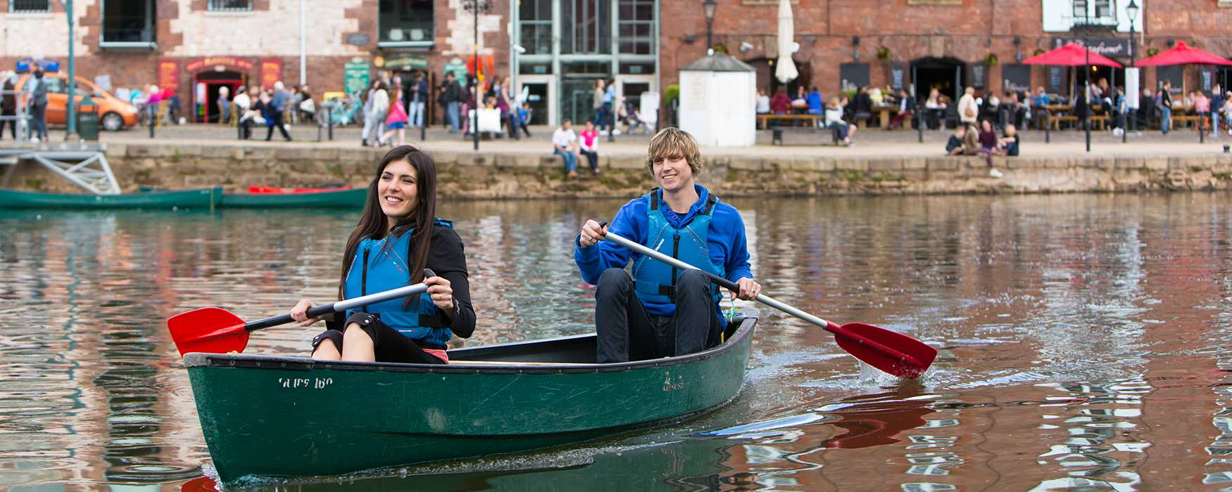 Canoeing on the River Exe