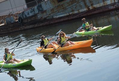 Kayaks on the River Exe