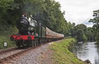South Devon Railway - train going along the line