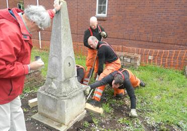 Clearing up at Dissenters' Graveyard